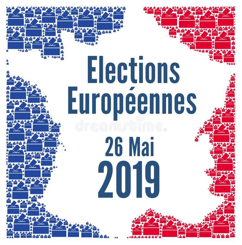 Élections 2019 d'Union européenne en France illustration stock
