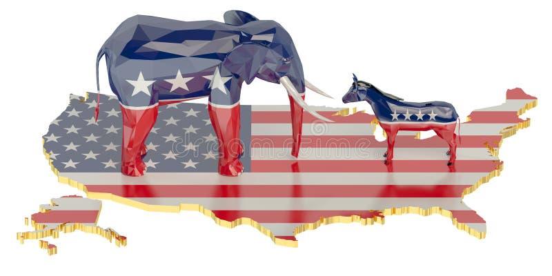 Élections dans le concept des Etats-Unis illustration de vecteur