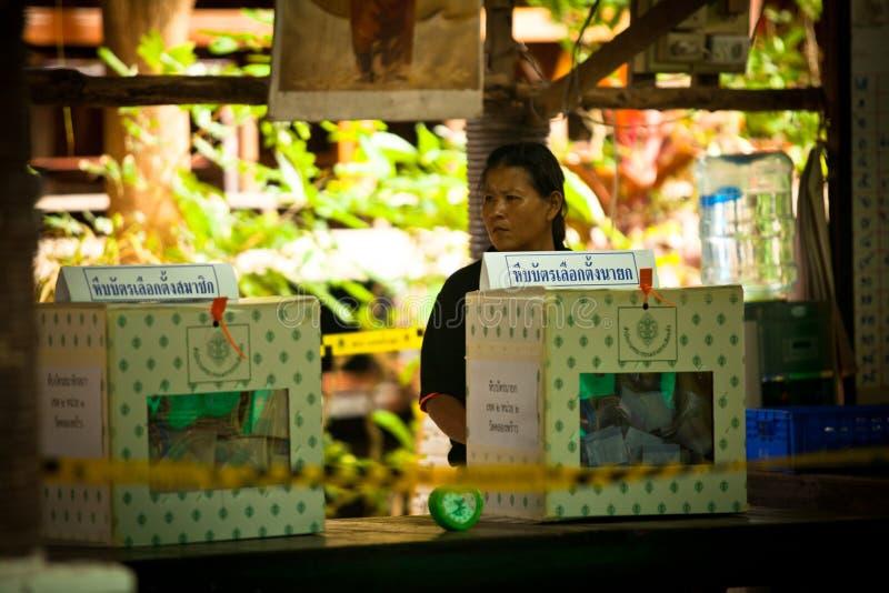 Élections de Ko Chang, Thaïlande. photos libres de droits