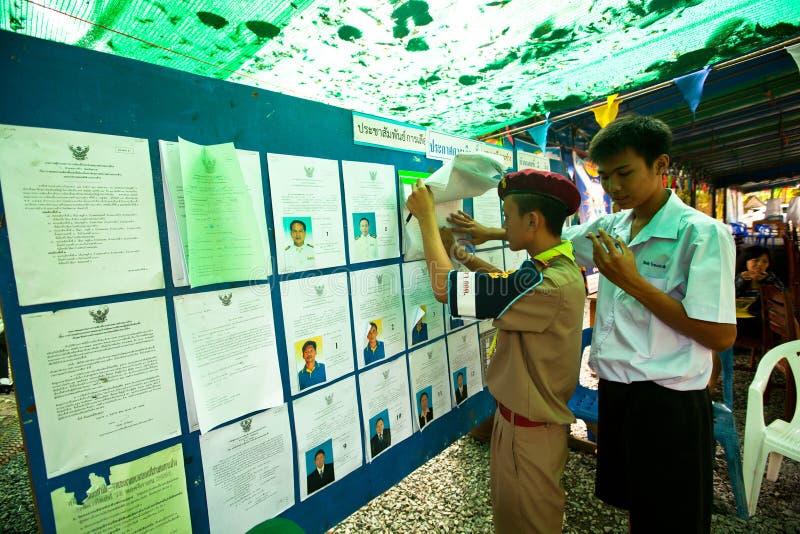 Élections de Ko Chang, Thaïlande. photographie stock libre de droits