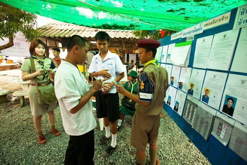 Élections de Ko Chang, Thaïlande. photo libre de droits
