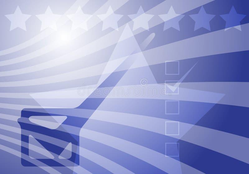 Élections des Etats-Unis illustration de vecteur
