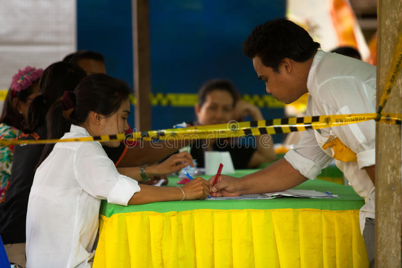 Élections du maire sur l'île de Chang de KOH photo stock