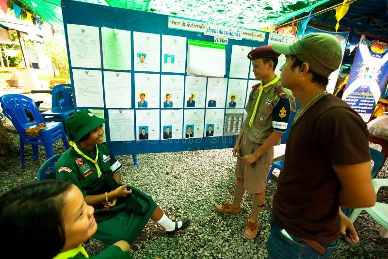 Élections du maire sur l'île de Chang de KOH image stock