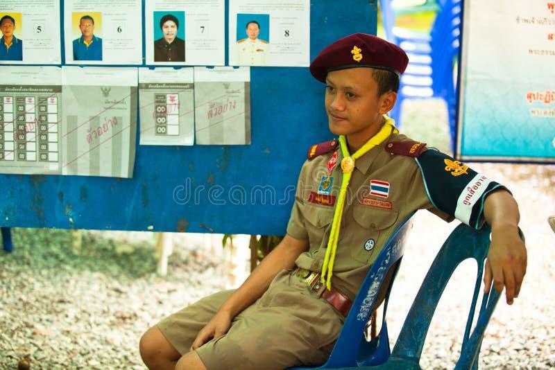 Élections du maire sur l'île de Chang de KOH photographie stock