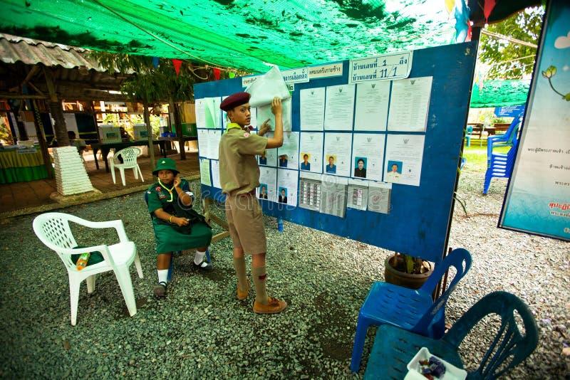 Élections du maire sur le KOH Chang, Thaïlande image stock