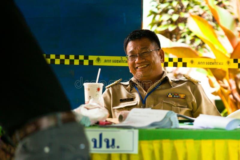 Élections du maire sur le KOH Chang, Thaïlande images stock