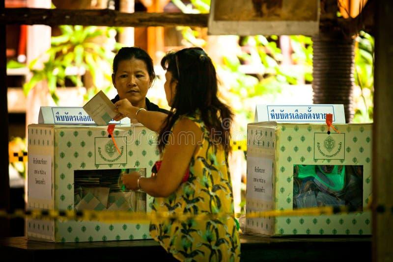 Élections du maire sur le KOH Chang, Thaïlande photos stock