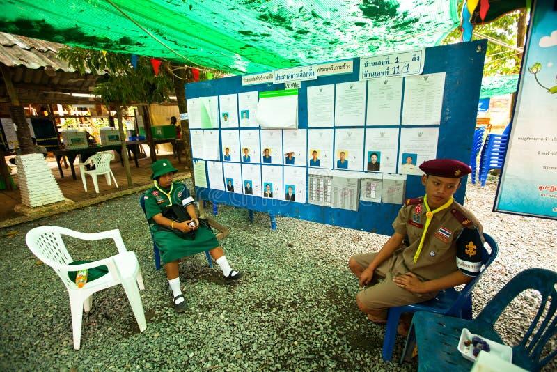 Élections locales sur l'île de Ko Chang image libre de droits