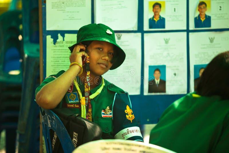 Élections locales sur l'île de Ko Chang photo libre de droits