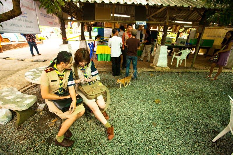 Élections locales sur l'île de Ko Chang photos libres de droits