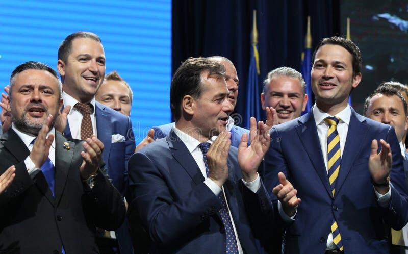 Élections nationales de parti libéral - Roumanie image libre de droits