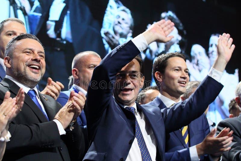 Élections nationales de parti libéral - Roumanie images libres de droits