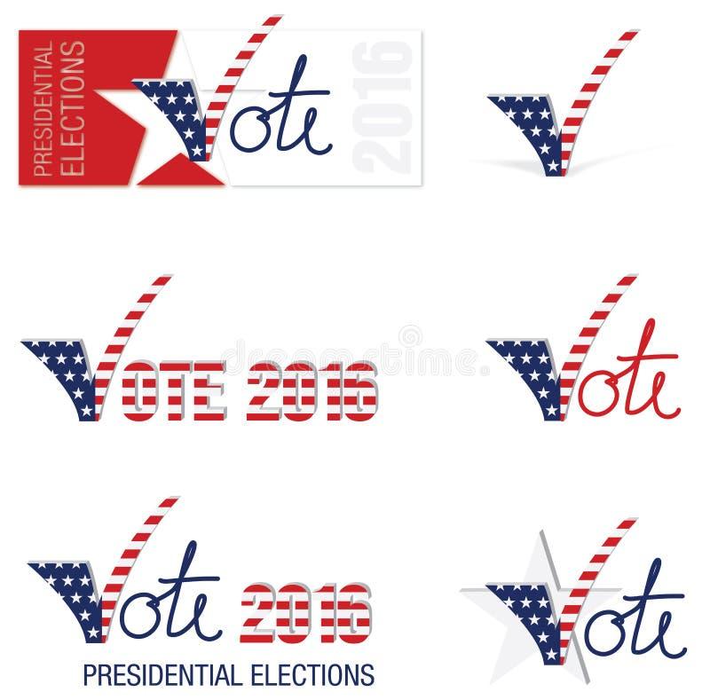 2016 élections présidentielles des Etats-Unis illustration de vecteur