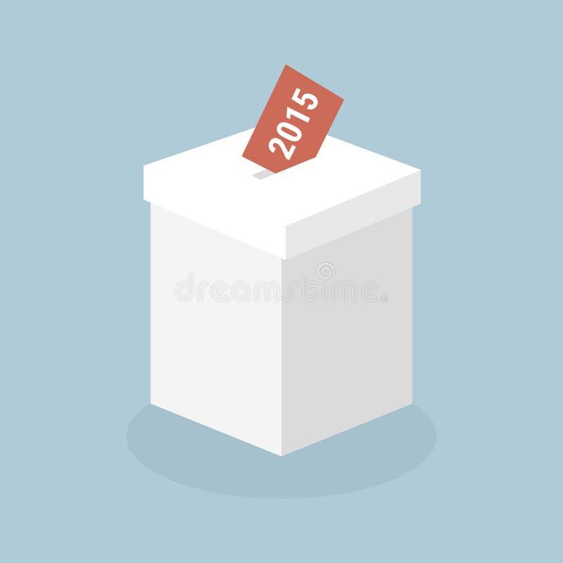 Élections 2015, style plat de conception d'illustion de vecteur illustration stock