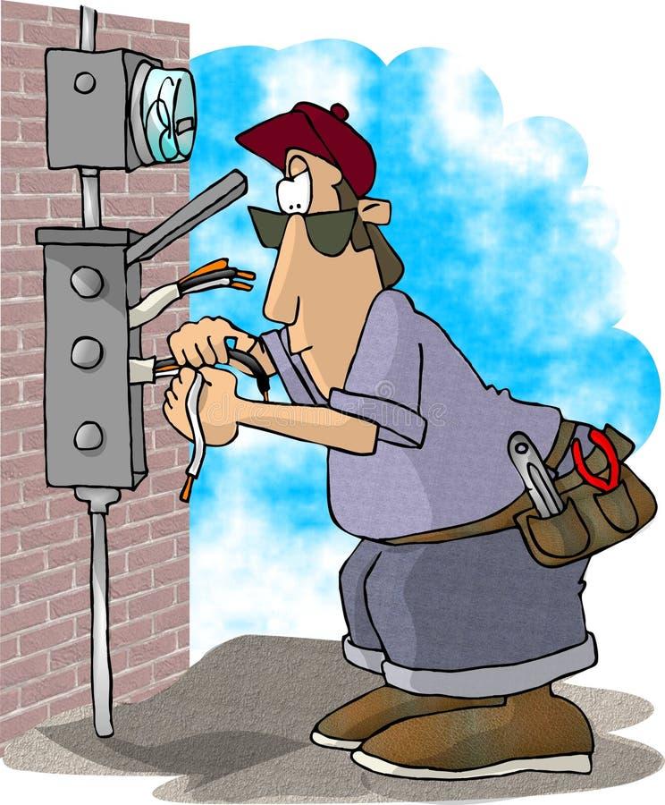 Électricien illustration libre de droits
