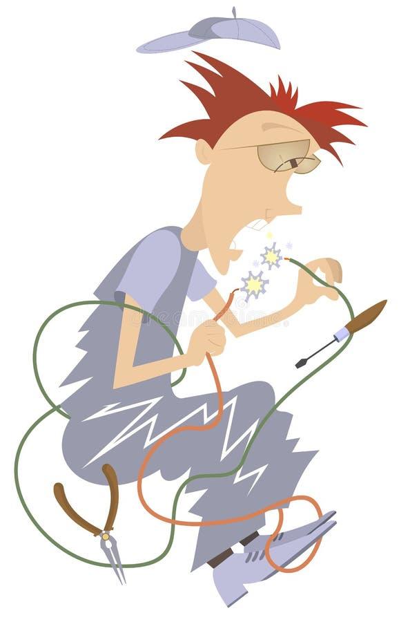 Électricien Illustration illustration stock