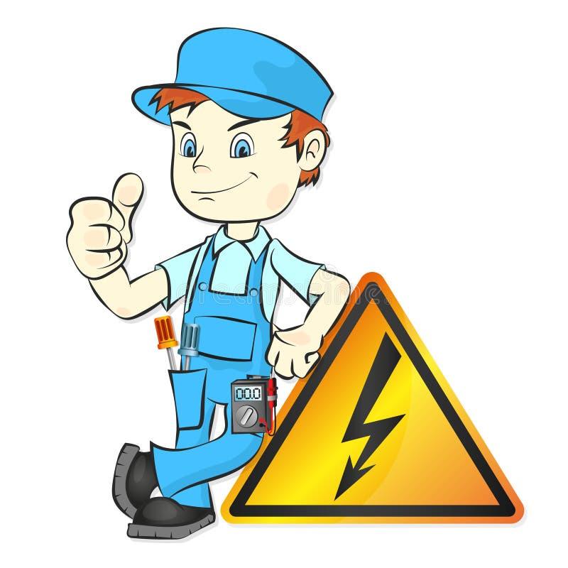 Électricien pour le vecteur de réparation illustration stock