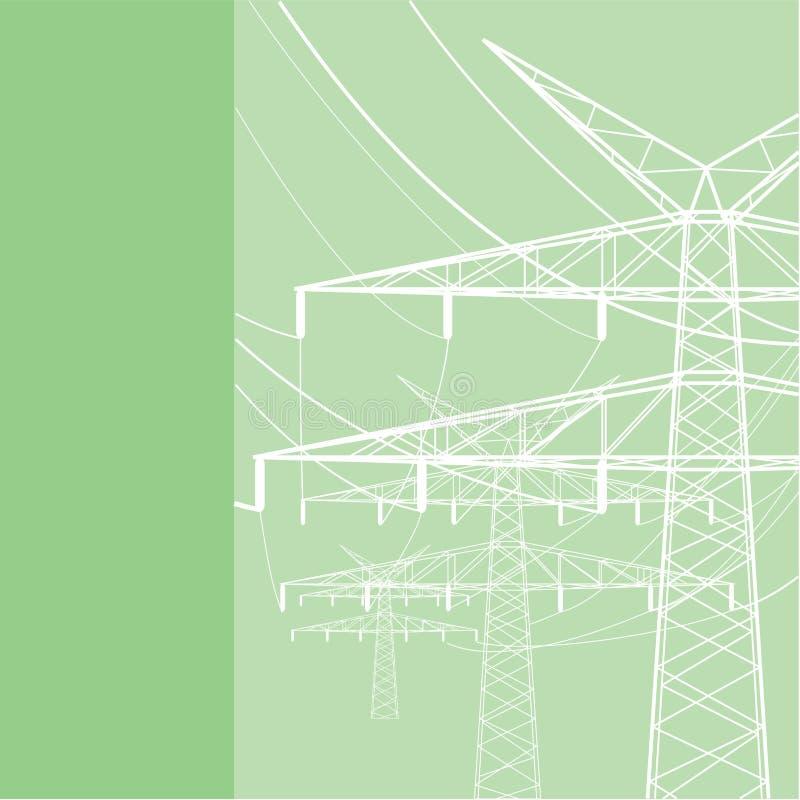 Électricités et ligne électrique illustration libre de droits