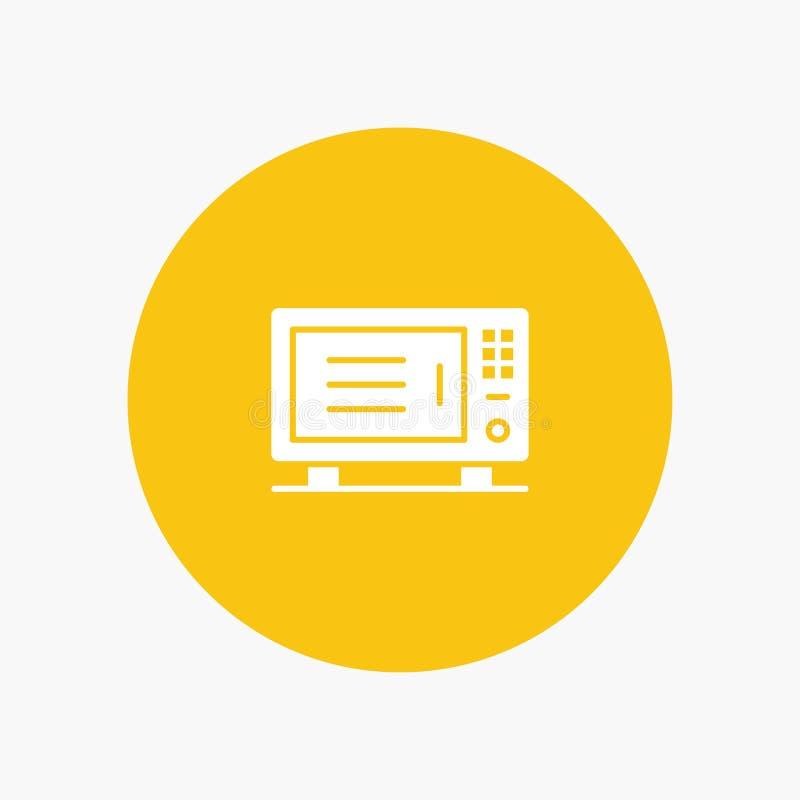 Électrique, à la maison, machine, icône blanche de glyph de four illustration libre de droits