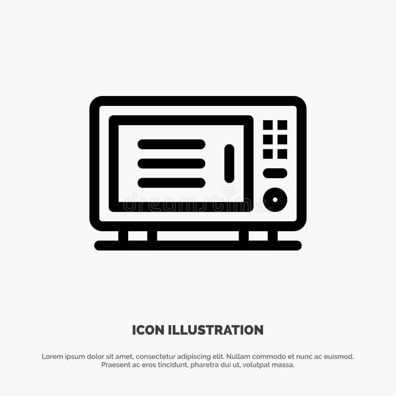 Électrique, à la maison, machine, Oven Vector Line Icon illustration libre de droits