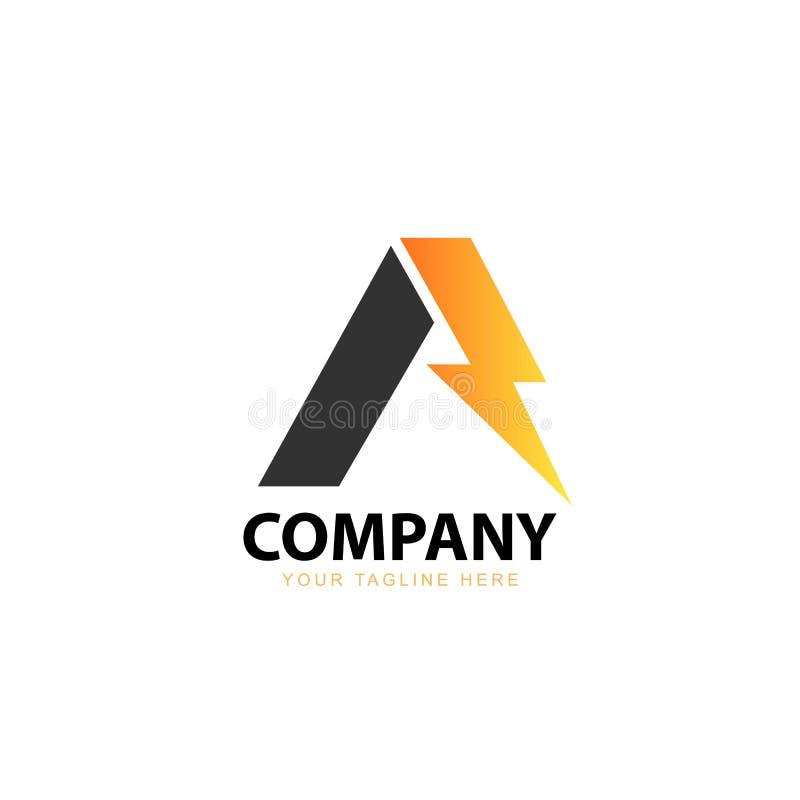 Électrique avec initial une inspiration de Logo Design illustration stock