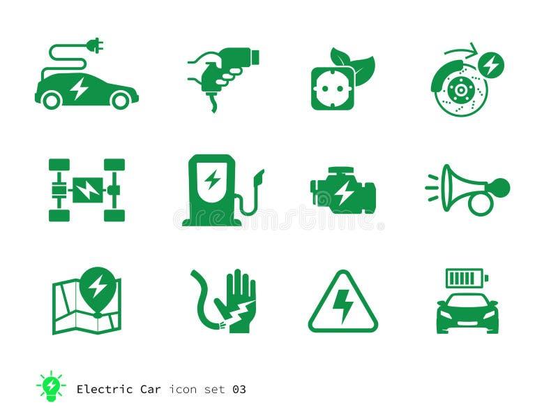 Électro collection d'icônes de voiture illustration libre de droits