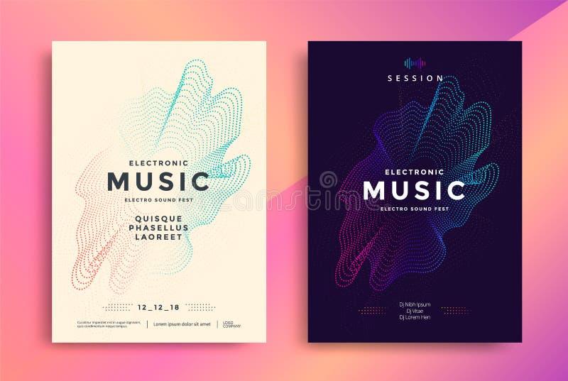 Électro conception d'affiche de musique avec le gradient abstrait illustration de vecteur
