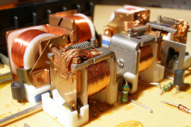 Électro-magnétic image stock