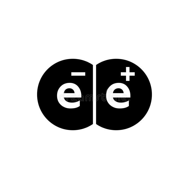 Électron et positron d'antimatière illustration libre de droits