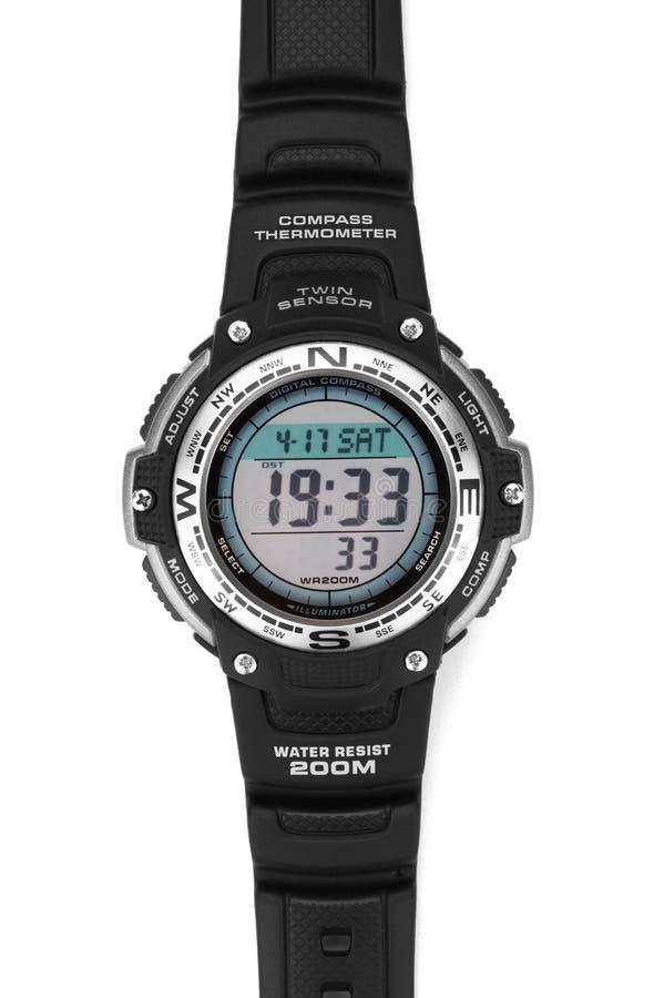 Électronique imperméabilisez la montre photographie stock