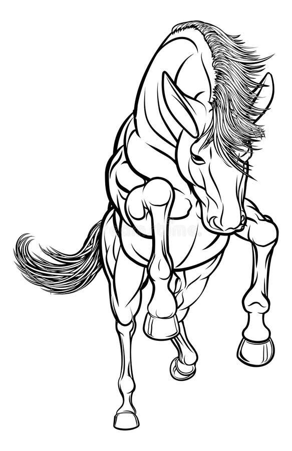 Élevage du cheval illustration libre de droits