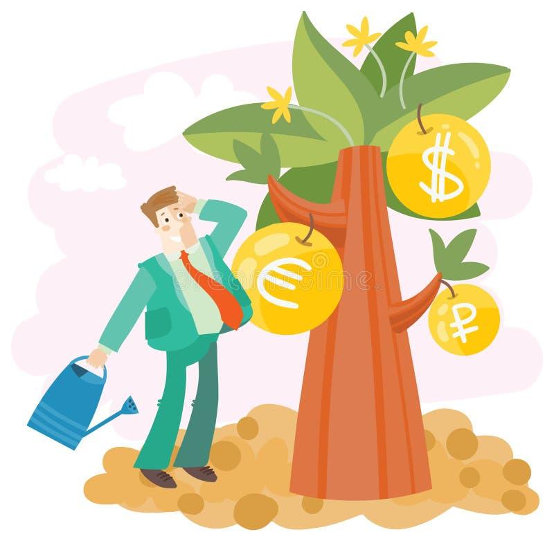 Élevez le grand argent illustration de vecteur