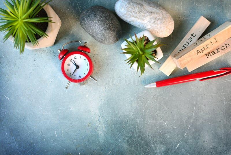 Élevez vos affaires avec le concept de gestion du temps de planification et images stock
