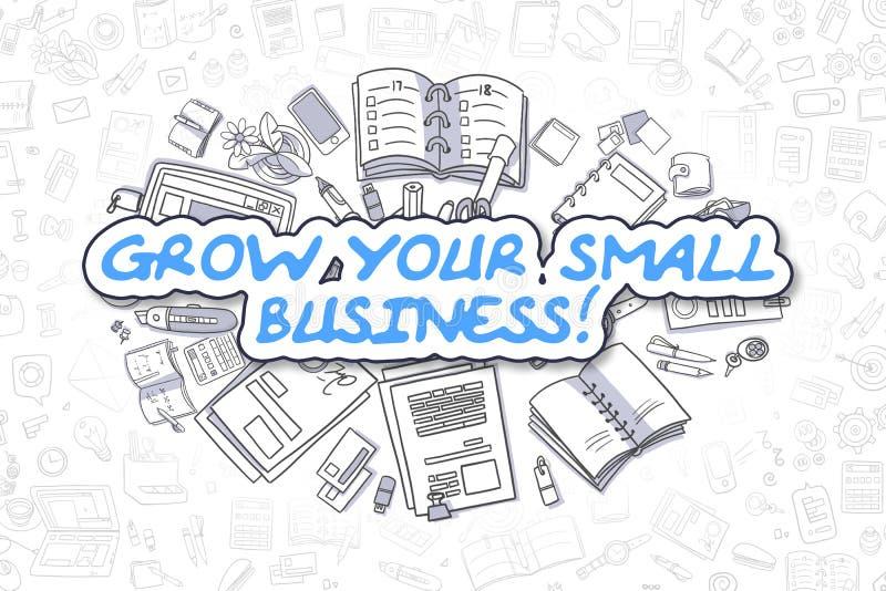 Élevez votre petite entreprise - concept d'affaires illustration libre de droits