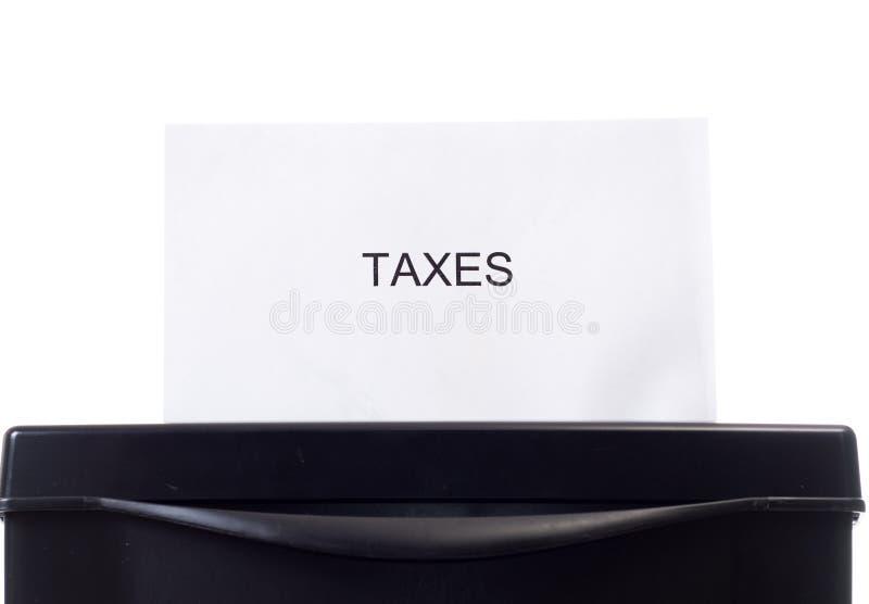élimination des impôts photographie stock