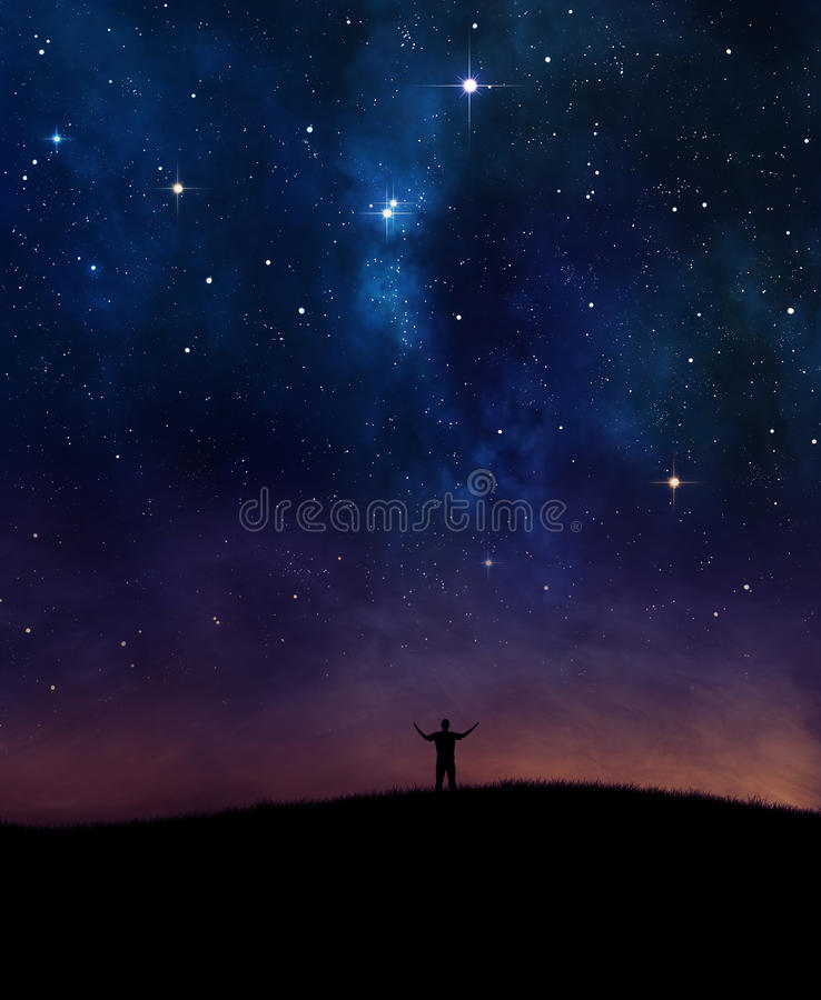 Éloge de ciel nocturne image stock