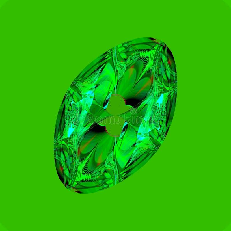 Émeraude illustration de vecteur