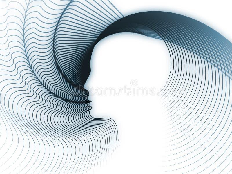 Émergence de la géométrie d'âme illustration stock