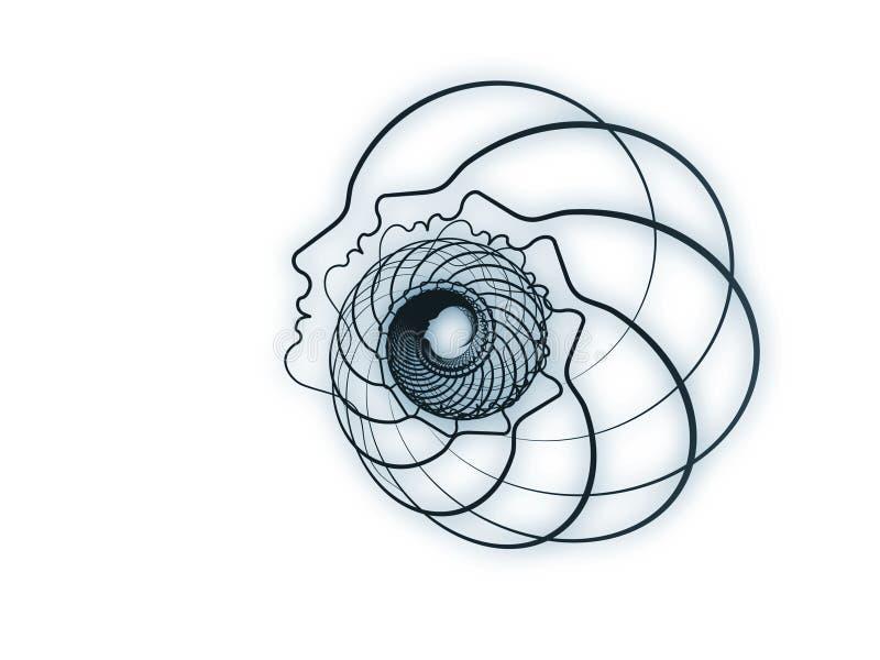 Émergence de la géométrie d'âme illustration de vecteur