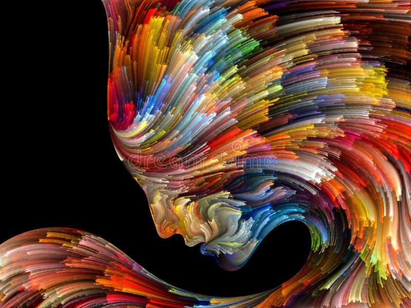 Émergence de palette intérieure illustration stock