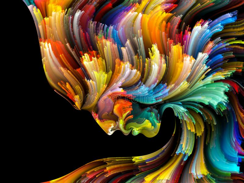 Émergence de palette intérieure illustration de vecteur