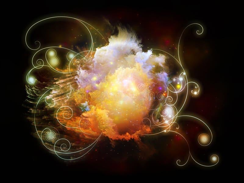 Émergence des nébuleuses de conception illustration de vecteur