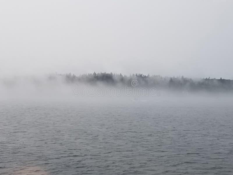 Émergence par le brouillard images libres de droits