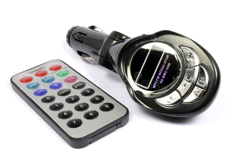 Émetteur de mp3 de véhicule photographie stock libre de droits