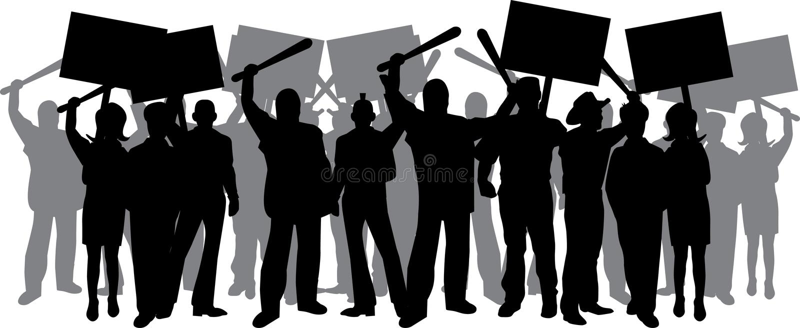 Émeute illustration de vecteur