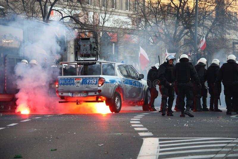 Émeutes photographie stock libre de droits