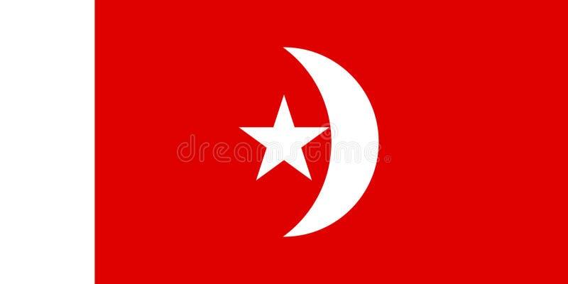 Émirat simple de drapeau des Emirats Arabes Unis illustration de vecteur