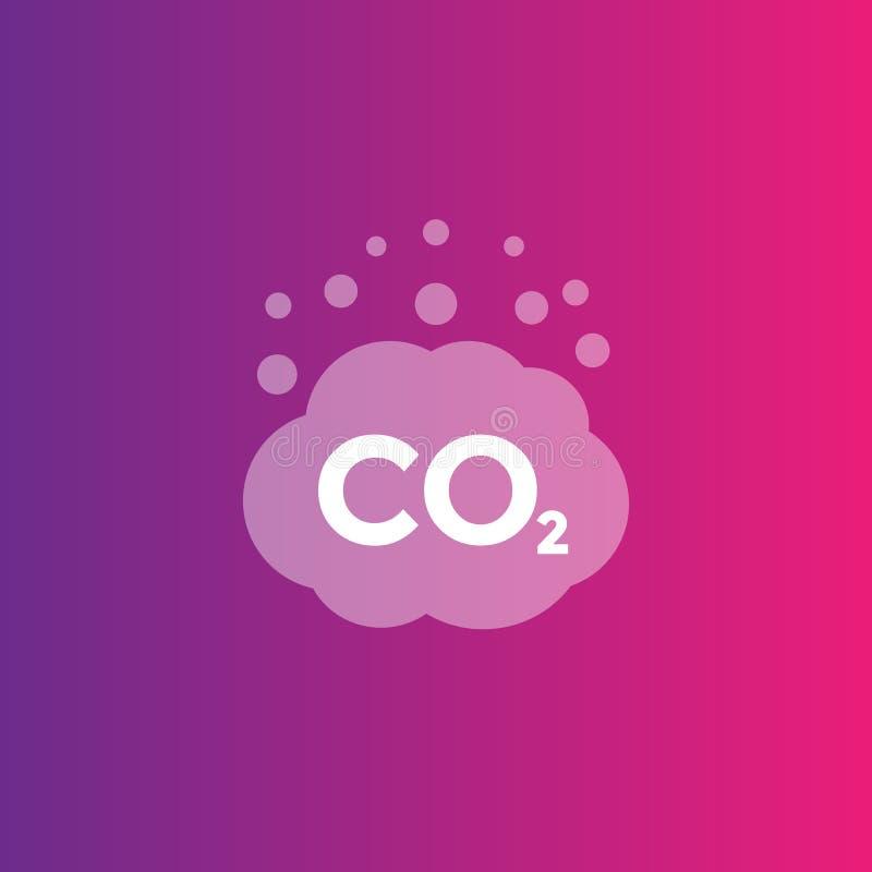 Émissions de CO2, icône de vecteur de combustion illustration libre de droits