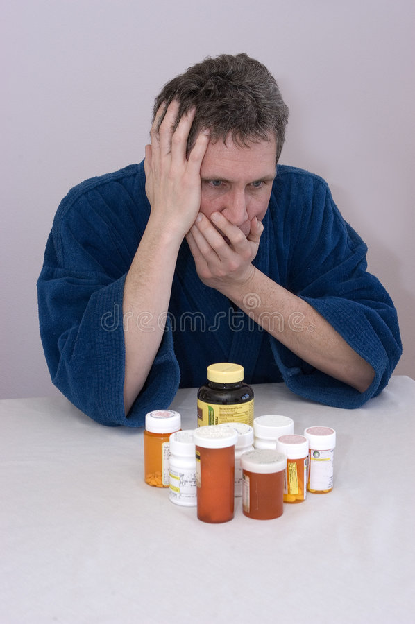Émissions de médicament délivré sur ordonnance/dépression image stock